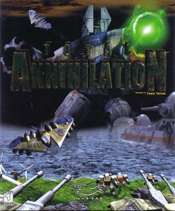 Box artwork for Total Annihilation.