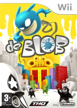 Box artwork for de Blob.