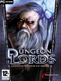 Box artwork for Dungeon Lords.