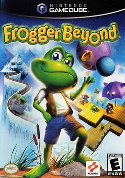 Box artwork for Frogger Beyond.