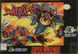 Box artwork for SWAT Kats: The Radical Squadron.