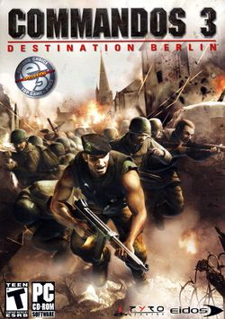 Box artwork for Commandos 3: Destination Berlin.