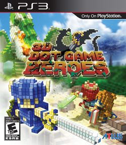 Box artwork for 3D Dot Game Heroes.