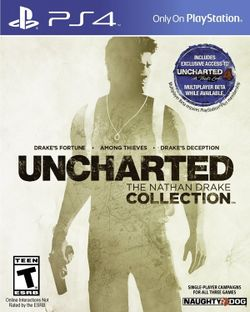 Box artwork for Uncharted: The Nathan Drake Collection.