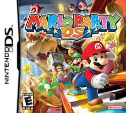Box artwork for Mario Party DS.
