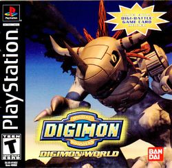 Box artwork for Digimon World.