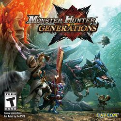 Box artwork for Monster Hunter Generations.