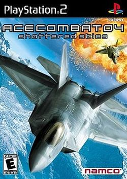 Box artwork for Ace Combat 04: Shattered Skies.