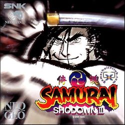Box artwork for Samurai Shodown III.