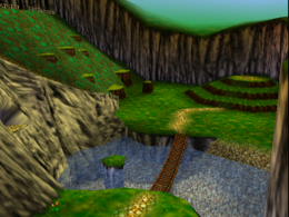 Banjo-Kazooie Mumbo's Mountain Entrance and Lake.png