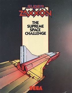 Box artwork for Super Zaxxon.