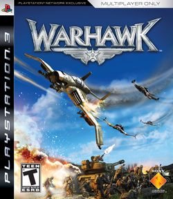 Box artwork for Warhawk.
