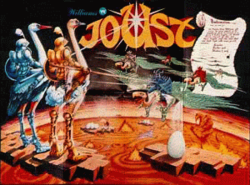 Box artwork for Joust.