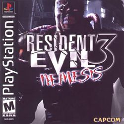 Box artwork for Resident Evil 3: Nemesis.