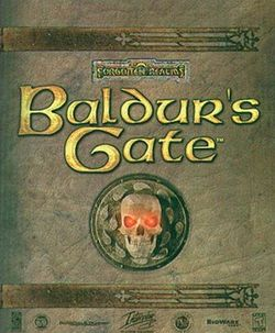 Box artwork for Baldur's Gate.