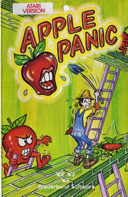 Box artwork for Apple Panic.