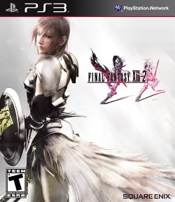Box artwork for Final Fantasy XIII-2.