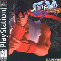 Box artwork for Street Fighter EX Plus α.