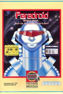 Box artwork for Paradroid.