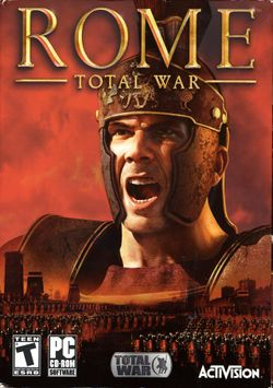 Box artwork for Rome: Total War.