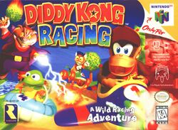 Box artwork for Diddy Kong Racing.
