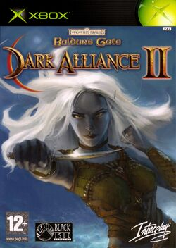 Box artwork for Baldur's Gate: Dark Alliance II.