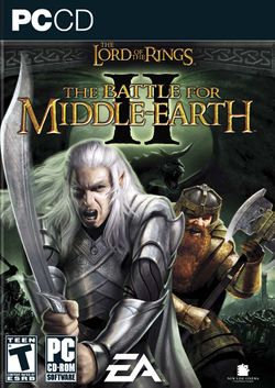 Box artwork for The Lord of the Rings: The Battle for Middle-earth II.