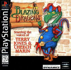 Box artwork for Blazing Dragons.