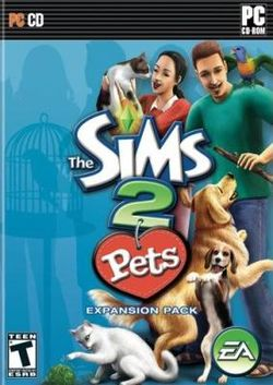 Box artwork for The Sims 2: Pets.