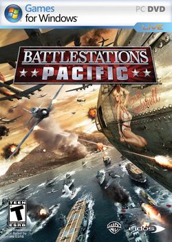 Box artwork for Battlestations: Pacific.