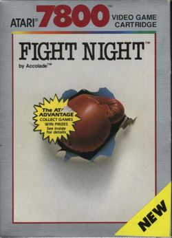 Box artwork for Fight Night.