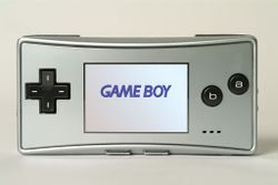The console image for Game Boy Micro.