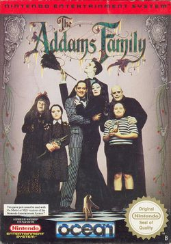 Box artwork for The Addams Family.