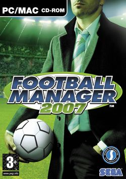 Box artwork for Football Manager 2007.