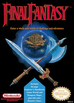 Box artwork for Final Fantasy.