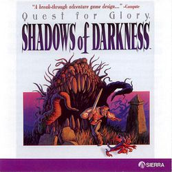 Box artwork for Quest for Glory IV: Shadows of Darkness.