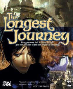 Box artwork for The Longest Journey.