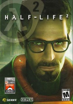 Box artwork for Half-Life 2.