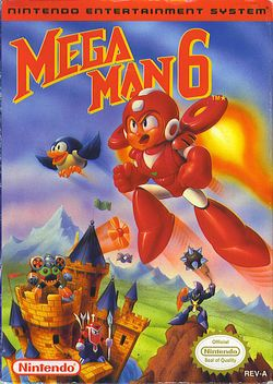 Box artwork for Mega Man 6.