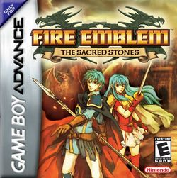 Box artwork for Fire Emblem: The Sacred Stones.