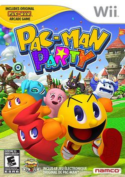 Box artwork for Pac-Man Party.