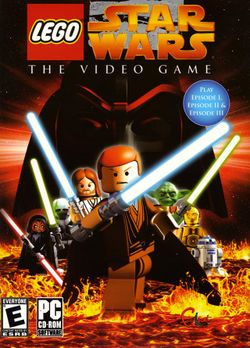 Box artwork for LEGO Star Wars: The Video Game.