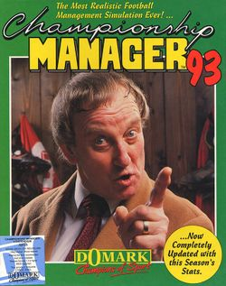 Box artwork for Championship Manager 93.