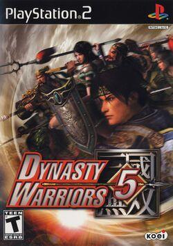 Box artwork for Dynasty Warriors 5.