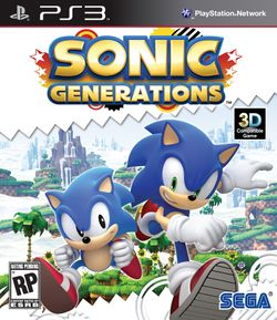 Box artwork for Sonic Generations.