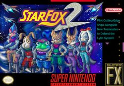 Box artwork for Star Fox 2.