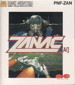 Box artwork for Zanac.