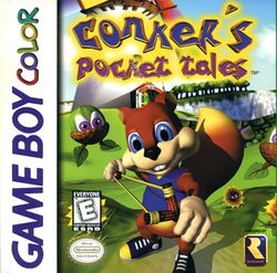 Box artwork for Conker's Pocket Tales.