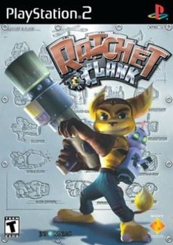 Box artwork for Ratchet & Clank.