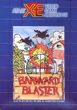 Box artwork for Barnyard Blaster.